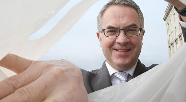 Environment Minister Alex Attwood said the cost of carrier bags could double to 10p by next April