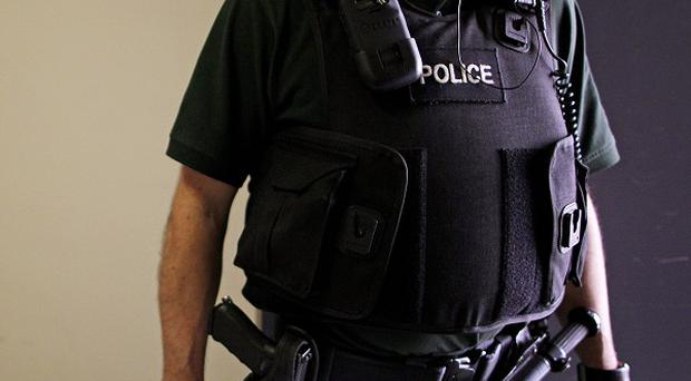 A man is being questioned in Antrim after being arrested over suspected dissident republican terror activity