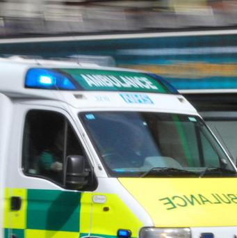 An ambulance crew were allegedly threatened with a meat cleaver
