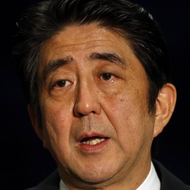 Japan's Prime Minister Shinzo Abe hailed Northern Ireland as a 'treasure trove of challenge, openness and innovation' (AP)