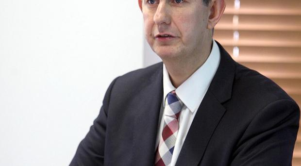 Health Minister Edwin Poots is due to launch Northern Ireland's first electronic care record system