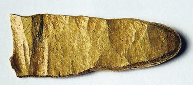 Viking gold ingot which was found at Brickland in Co Down