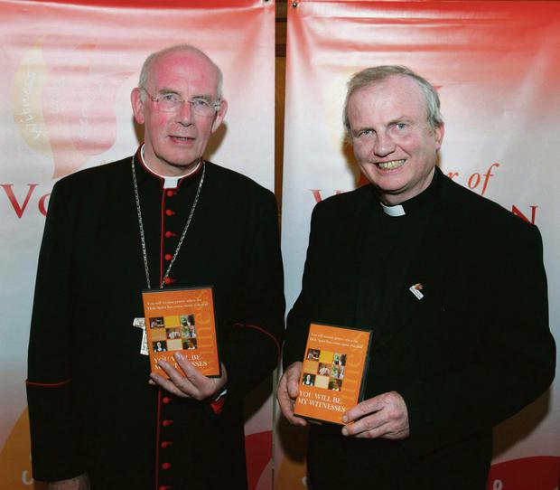 Cardinal Brady pictured with Bishop Donal McKeown. Photo: Facebook