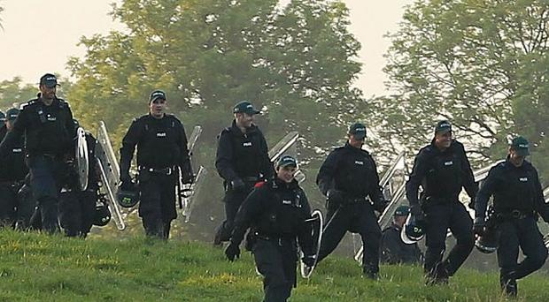 Approximately 8,000 police officers were on duty during the G8 summit