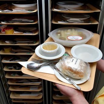 The number of elderly people receiving subsidised community meals in parts of Northern Ireland has fallen sharply, it was claimed