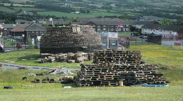 The bonfire in Ballyduff