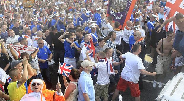 Loyalists confronted police in North Belfast on the Twelfth of July, following the decision to bar Orangemen from walking through Ardoyne