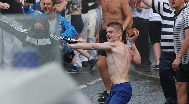 Loyalists hurled bricks and other missiles at police during violence clashes on the Twelfth of July.