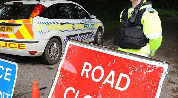 The single-vehicle collision happened at about 3.30pm on Sunday, on the Omagh Road in Dromore.