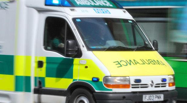 A cyclist has died following a collision involving an ambulance, police say