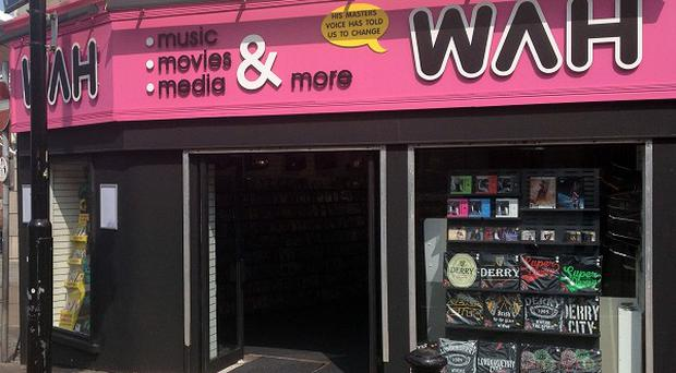 A WAH store in Derry, as a former HMV worker has upended the music giant's attempts to pull the plug on his new record shop