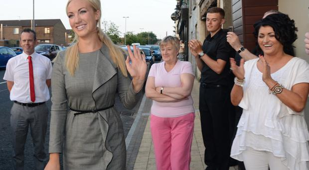 Dr Leah Totton returns home to her native Waterside in Londonderry on Friday after winning the BBCs Apprentice and will now work with Sir Alan Sugar when she opens a chain of private cosmetics clinics