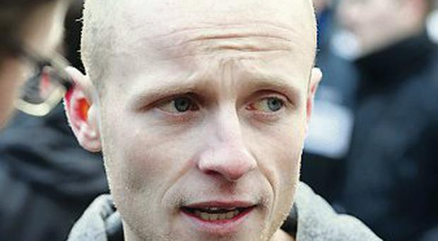 Flags protester: Jamie Bryson