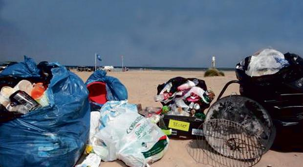 The hot weather has resulted in an explosion of litter on our beaches