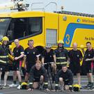 The 11-strong team of firefighters from Belfast City Airport a