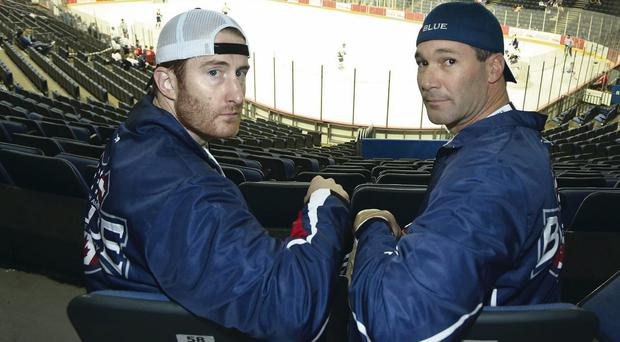 Jimmy Mahonney and Joe Covina pictured at the Odyssey arena