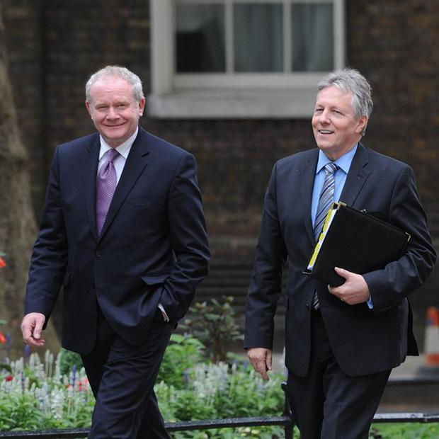 Martin McGuinness and Peter Robinson disagree over the Sinn Fein-backed parade