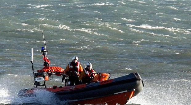 A lifeboat owned by Lough Neagh Rescue service was used to go to the aid of the party