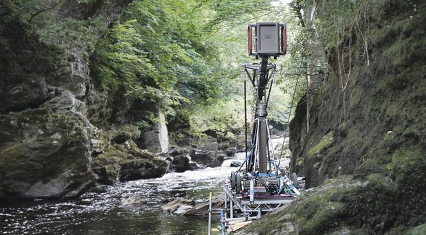 On the set of Dracula Year Zero in Roe Valley Country Park