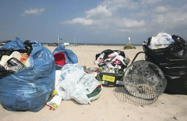 Some of the litter which has been found strewn across Northern Ireland's beaches