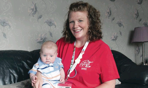 Jan-Leigh and son Elijah in their east Belfast home
