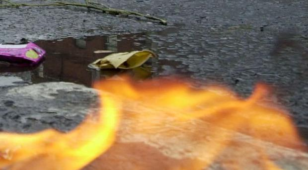 A petrol bomb attack is being probed in Londonderry