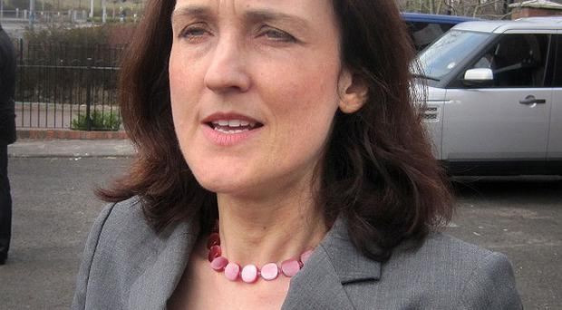 Theresa Villiers said a planned republican parade in Castlederg was 'damaging to community relations'