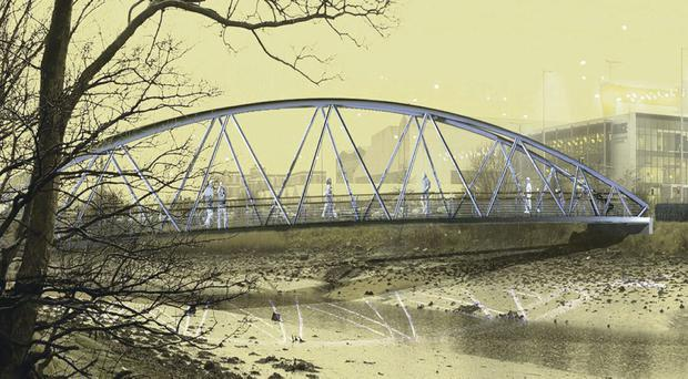 Artist's impression of the new bridge to be built as part of Connswater project in east Belfast