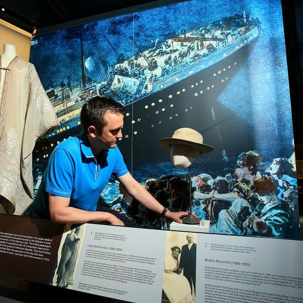 Items of clothing worn by survivors from the Titanic have been added to an exhibition about the liner in Co Down