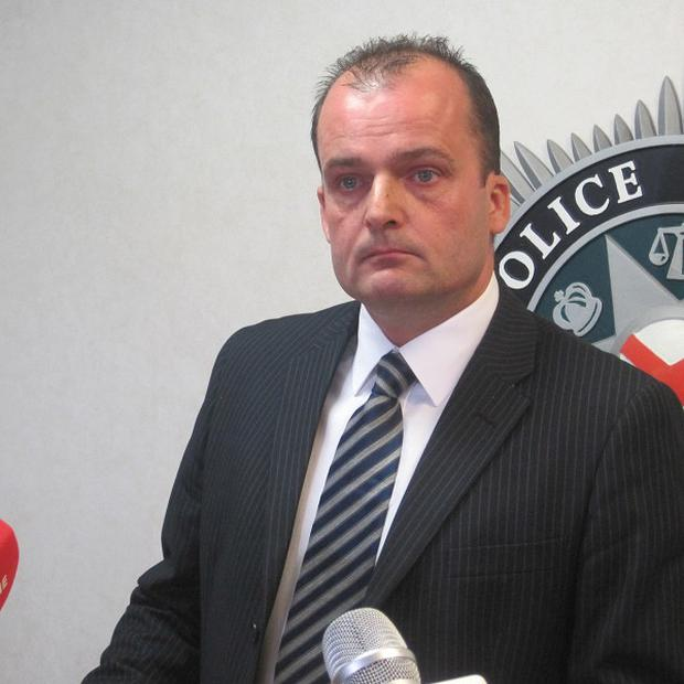PSNI Detective Superintendent Sean Wright speaking to media at PSNI headquarters in Belfast