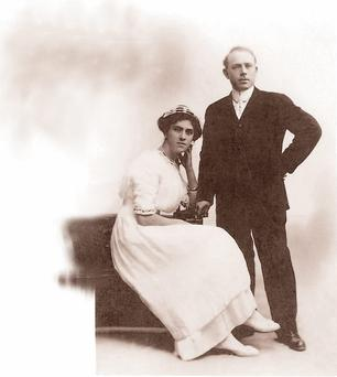 Bertha Mulvihill on her wedding day