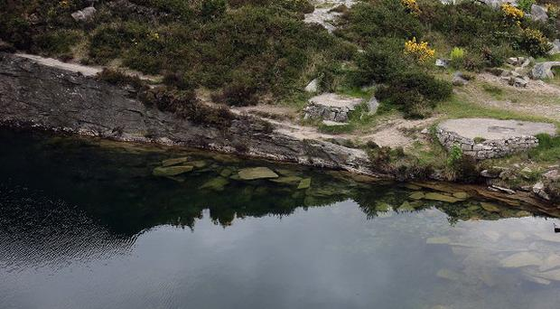 The quarry in rural Co Down where Colin Polland died in a bid to save Kevin O'Hare