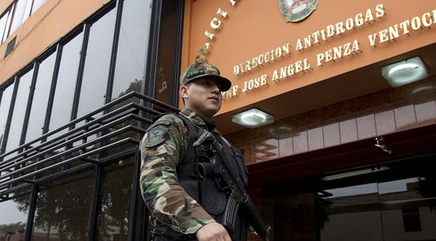 Peru's National Police anti-drug headquarters, where Michaella McCollum Connolly and Melissa Reid are being held (AP)