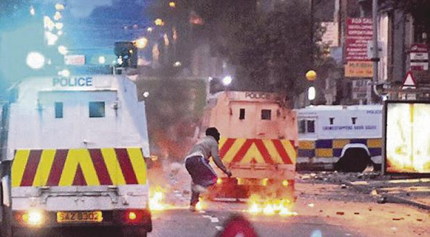 Violence erupted in east Belfast and across the city around July 12