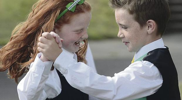 Joyce Connolly and Dylan McDermott from Streamstown, rehearse for their under 12 All Ireland Set dancing championship