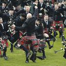 Competitors in UK Pipe Band Championships
