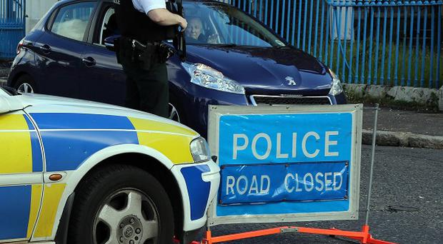 A pipe bomb has been found in a car park at Ballymena Showgrounds