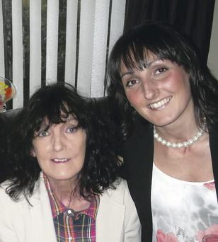 Jennifer Lewis with her mum Maureen Rees who passed away on December 31