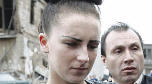 Michaella McCollum Connolly, from Dungannon, arriving at the court in Peru