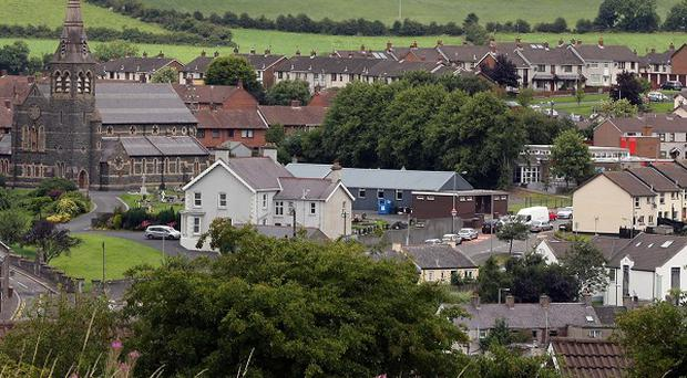 Dromore in Co Down. Leslie Ross, 66, from the quiet market town, will appear in court today charged with two murders.