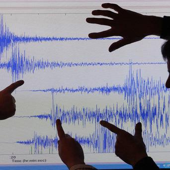 Two earthquakes in the Irish Sea have caused tremors on land nearby