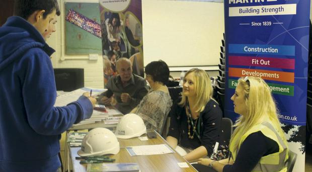 Young people were given a helping hand in the world of work at the event