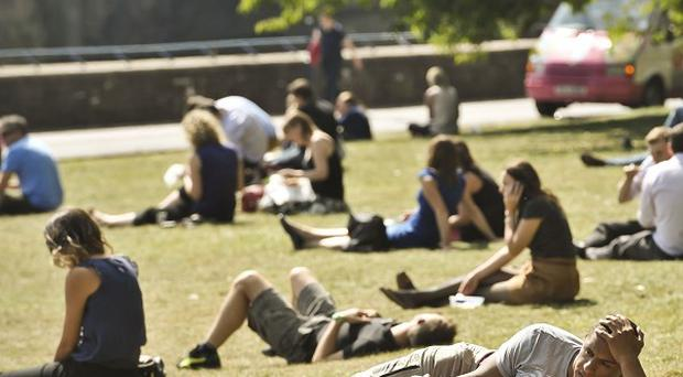 Another scorching September day is forecast in parts of England and Wales before the heats gives way to downpours