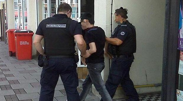 Home Office officials carried out raids like this in Belfast and Co Down