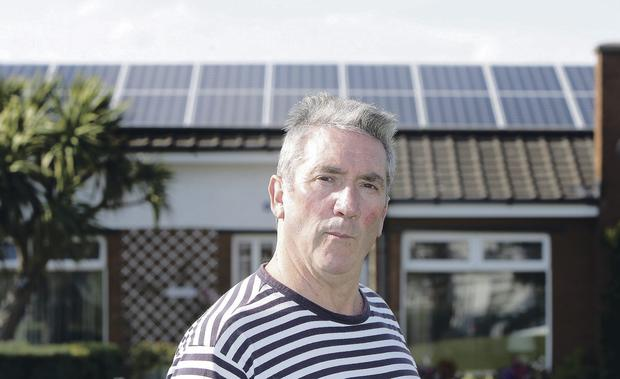 Kenneth Hanna installed solar panels on his bungalow in a cash-saving exercise
