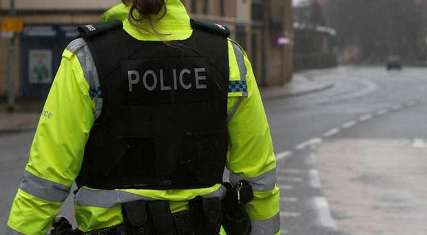 A road was closed off near Dunadry following a controlled explosion on a suspicious object
