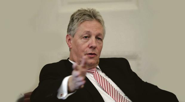Fighting mood: First Minister Peter Robinson