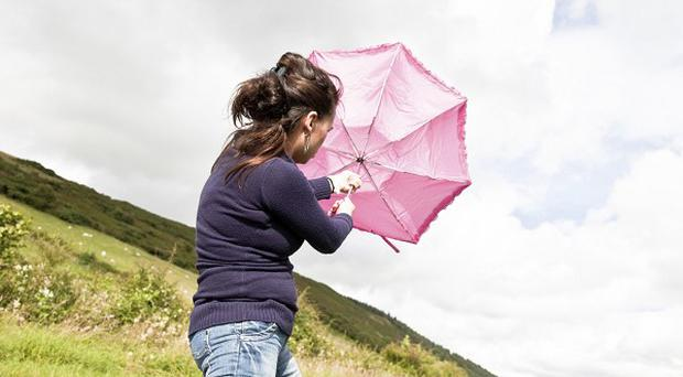 Gusts up to 60mph are due over areas of Scotland and Northern Ireland and it will also be blustery further south