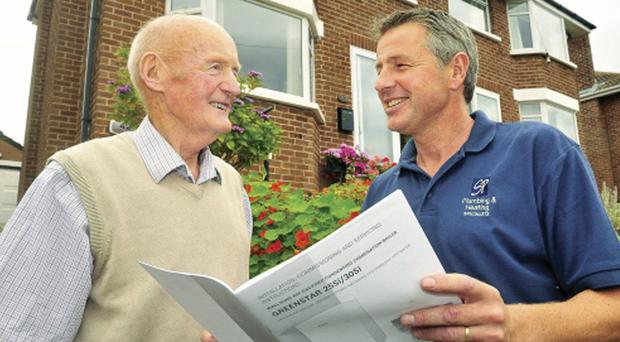 Stanley Stewart and local gas installer Sean McGeough discuss the options
