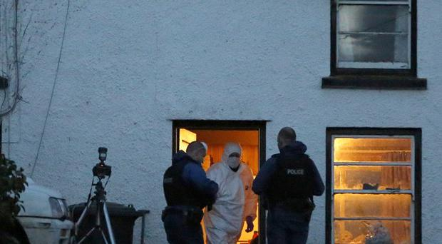 The farmhouse where two men were found shot dead in Glenarm, Co Antrim